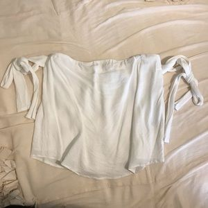 Lucca Off the Shoulder Tie Bow Top